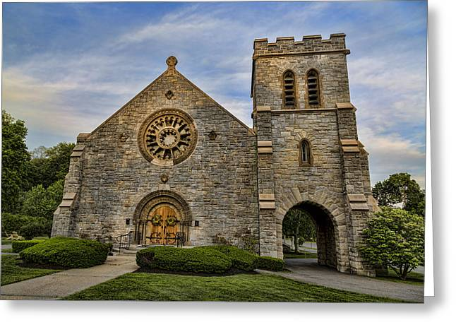 Stepping Stones Greeting Cards - St Ann Church - Lenox Greeting Card by Stephen Stookey