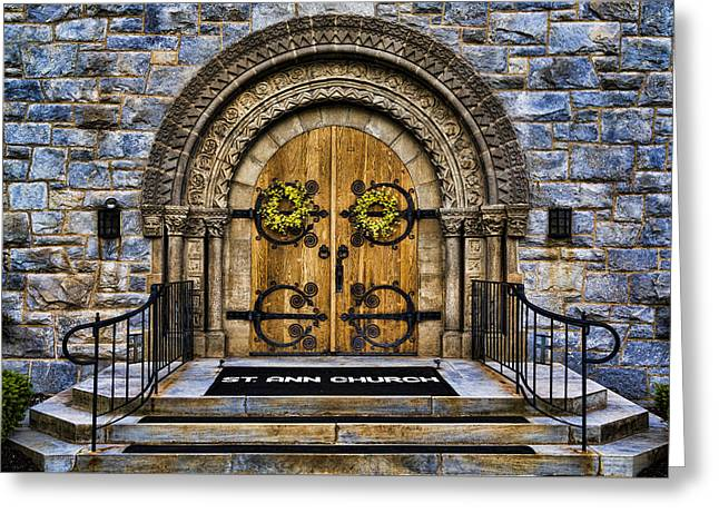 Stepping Stones Greeting Cards - St Ann Church Greeting Card by Stephen Stookey