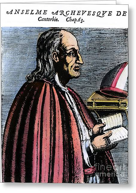 11th Century Greeting Cards - St. Anselm Of Canterbury Greeting Card by Granger