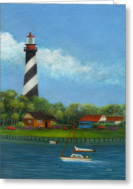 Gainesville Greeting Cards - St. Augustine Lighthouse Greeting Card by Gordon Beck