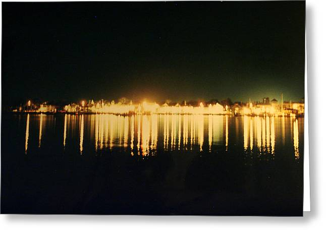 St. Augustine Lights Greeting Card by Kenneth Albin