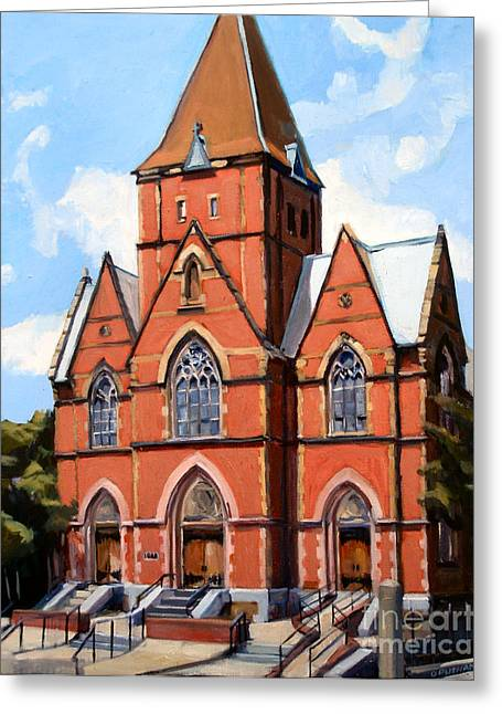 Old Churches Greeting Cards - St. Augustines Church Greeting Card by Deb Putnam