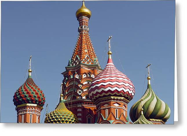 Union Square Greeting Cards - St Basil Cathedral Spires - Red Square - Russia Greeting Card by Daniel Hagerman