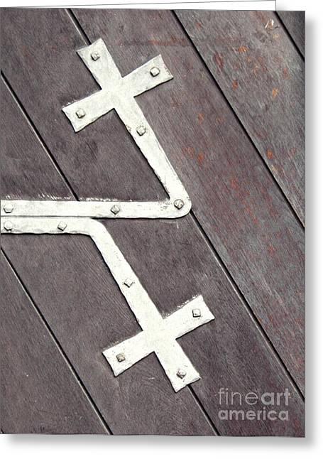 Gothic Germany Greeting Cards - St. Bonifatius Church Doors 2 Greeting Card by Sarah Loft
