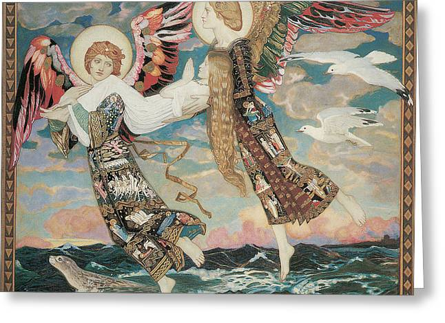 St. Bride Greeting Card by John Duncan