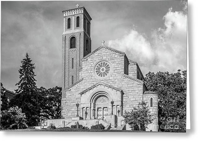 St. Catherine University Our Lady Of Victory Chapel Greeting Card by University Icons