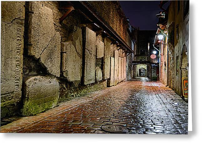 Night Lamp Greeting Cards - St. Catherines Passage Greeting Card by Eduard Gorobets