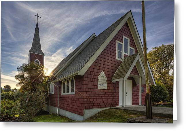 St. Columba Church - Tofino Greeting Card by Mark Kiver