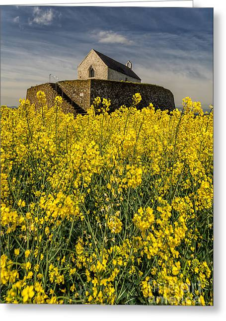 The North Digital Art Greeting Cards - St Cwyfans Church Greeting Card by Adrian Evans