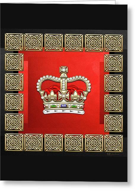 St Edward's Crown - British Royal Crown  Greeting Card by Serge Averbukh