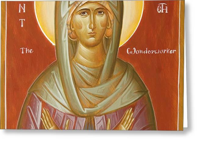 St Elizabeth the Wonderworker Greeting Card by Julia Bridget Hayes