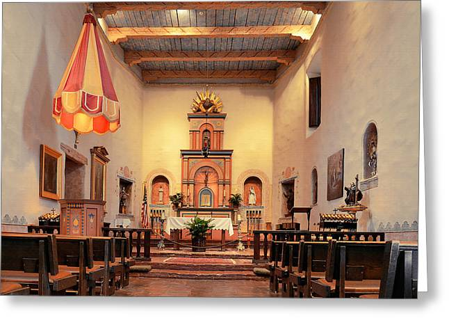 Gospel Greeting Cards - St Francis Chapel at Mission San Diego Greeting Card by Christine Till