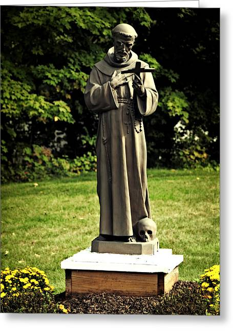 St Francis Of Assisi Greeting Card by Mike Martin