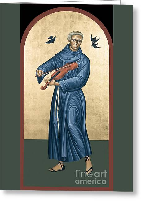 St. Francis Solano - Rlfrs Greeting Card by Br Robert Lentz OFM