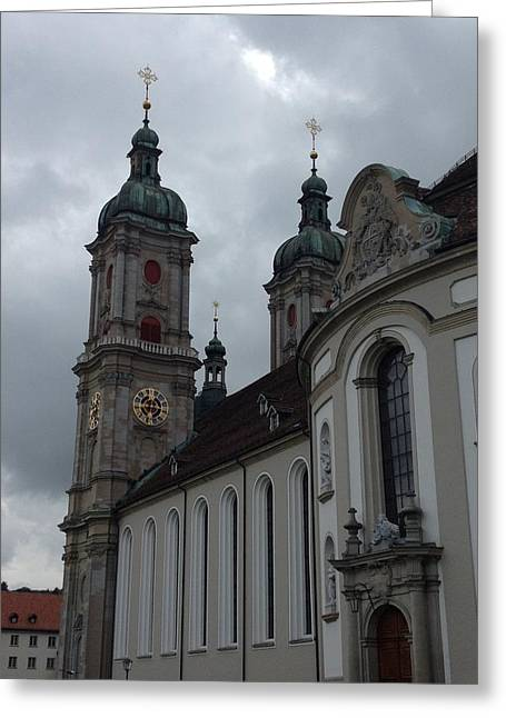 Swiss Photographs Greeting Cards - St. Gallen Cathedral  Greeting Card by Manda Koepp-Piesche