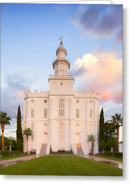 St. George Temple Greeting Cards - St. George Temple Greeting Card by Andrew Rich