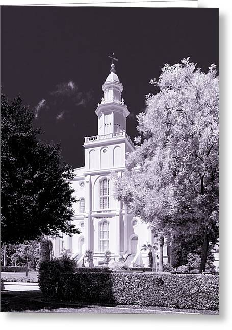 St. George Temple Greeting Cards - St. George Temple High Contrast Greeting Card by Greig Huggins
