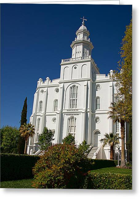 St. George Temple Greeting Cards - St George Temple III Greeting Card by David Simpson