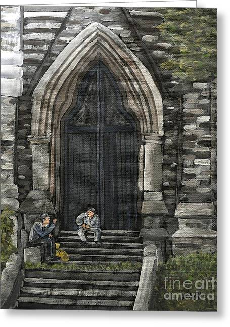 Evening Scenes Greeting Cards - St Georges Parishioners Greeting Card by Reb Frost