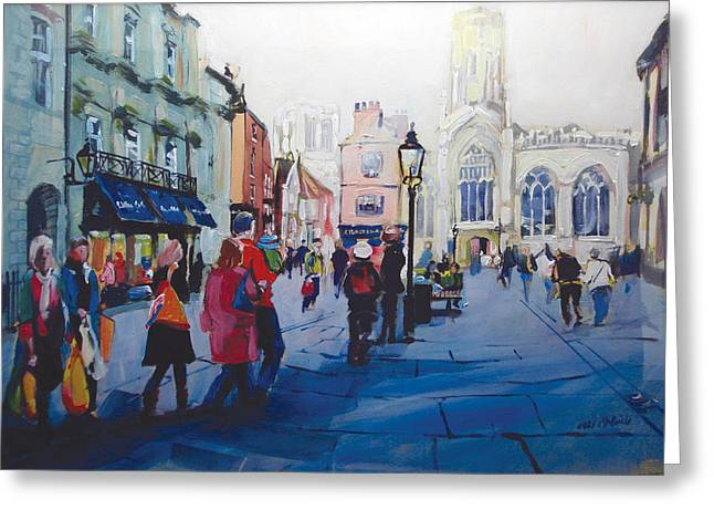 Neil Mcbride Greeting Cards - St Helen Square York Greeting Card by Neil McBride