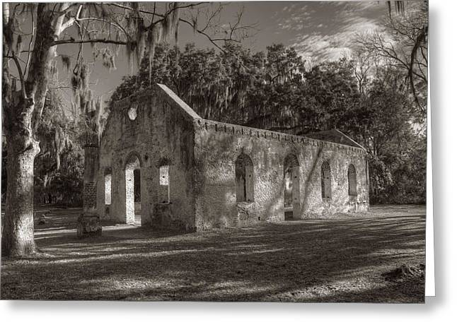 St. Helena Island Greeting Cards - St. Helena Chapel of Ease Greeting Card by Steve Gravano