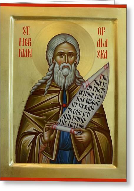 Daniel Neculae Greeting Cards - St. Herman of Alaska Greeting Card by Daniel Neculae