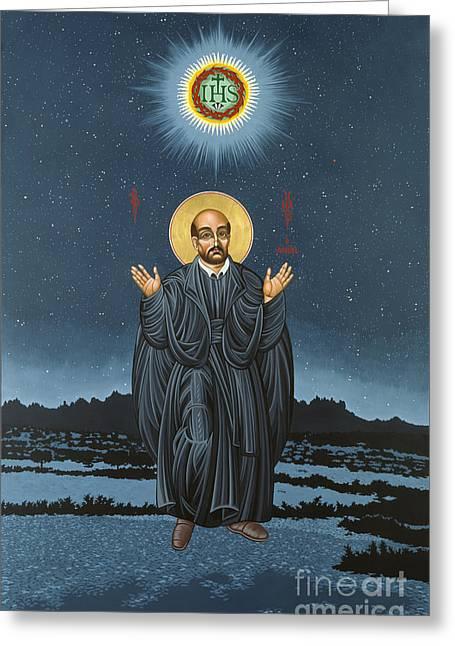 St. Ignatius In Prayer Beneath The Stars 137 Greeting Card by William Hart McNichols