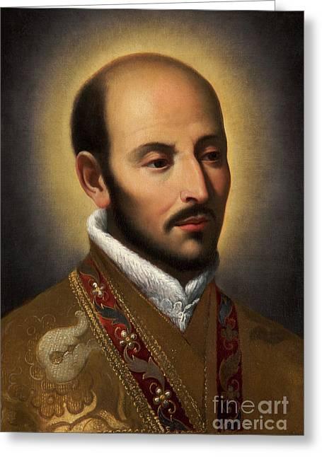 St Ignatius Of Loyola Greeting Card by Italian School