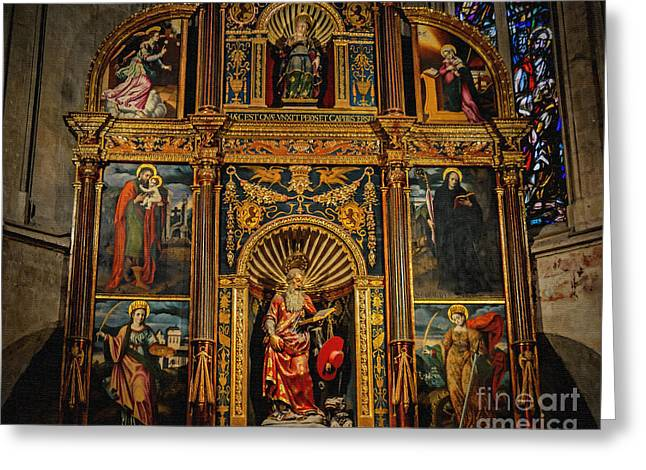 St. Jerome Chapel Altarpiece Greeting Card by Sue Melvin