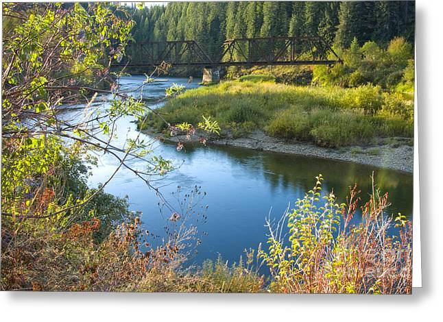 Idaho Photographs Greeting Cards - St. Joe River Greeting Card by Idaho Scenic Images Linda Lantzy