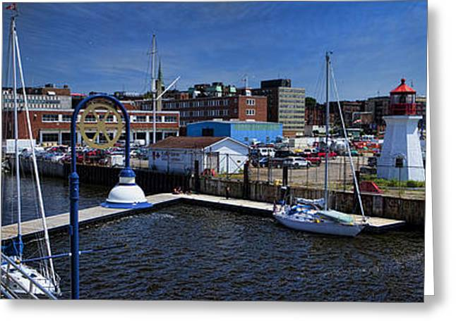 St. John New Brunswick Harbour With Cruise Ship Greeting Card by David Smith