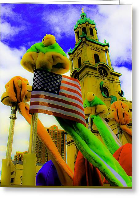 Religion Greeting Cards - St. Johns America Greeting Card by Michael Nowotny