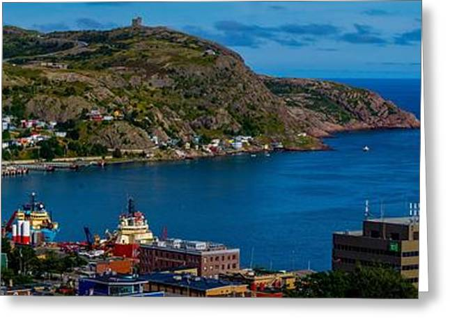 View Pyrography Greeting Cards - St. Johns Harbour Greeting Card by RJB Photography