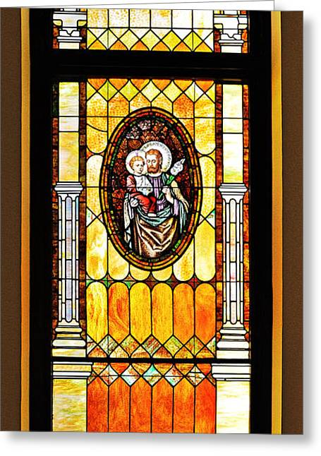 Best Sellers -  - Saint Joseph Greeting Cards - St Joseph Immaculate Conception San Diego Greeting Card by Christine Till