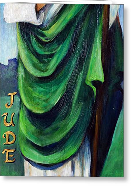 Saint Jude Greeting Cards - St. Jude Greeting Card by Valerie Vescovi