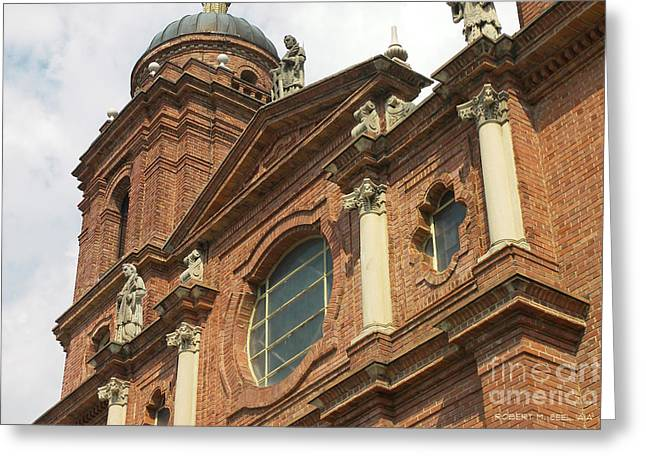 St Lawrence Asheville Greeting Card by Robert M Seel