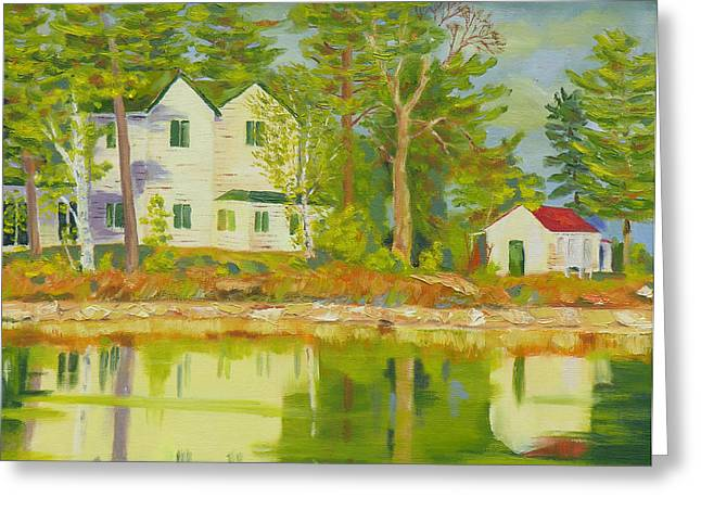 St. Helena Island Greeting Cards - St Lawrence River-Spring Sunshine Greeting Card by Robert P Hedden