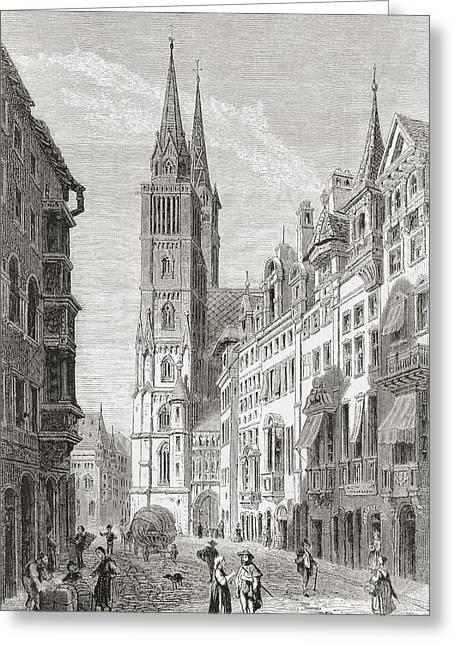Laurence Greeting Cards - St. Lorenz Church, Nuremberg, Bavaria Greeting Card by Ken Welsh