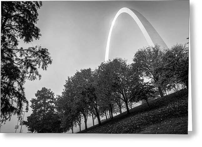St. Louis Arch Behind The Trees Greeting Card by Gregory Ballos