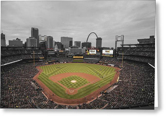 St. Louis Cardinals Busch Stadium Creative 17 Greeting Card by David Haskett