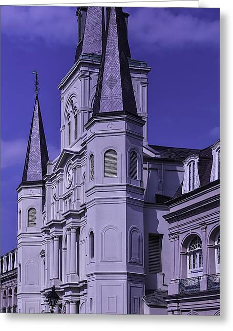 Nola Photographs Greeting Cards - St. Louis Cathedral 2 Greeting Card by Garry Gay
