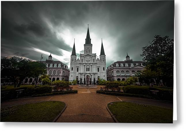 Michelle Greeting Cards - Saint Louis Cathedral Greeting Card by Michelle Saraswati