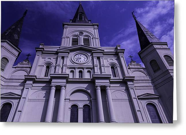 St. Louis Cathedral Greeting Cards - St. Louis Cathedral New Orleans Greeting Card by Garry Gay