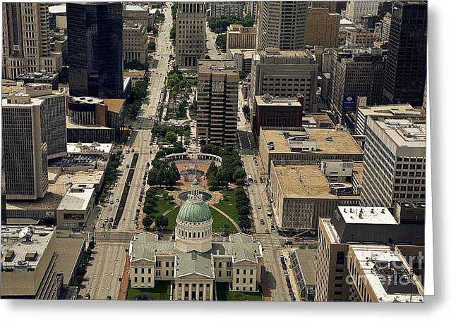Old Street Greeting Cards - St. Louis Overview Greeting Card by Madeline Ellis