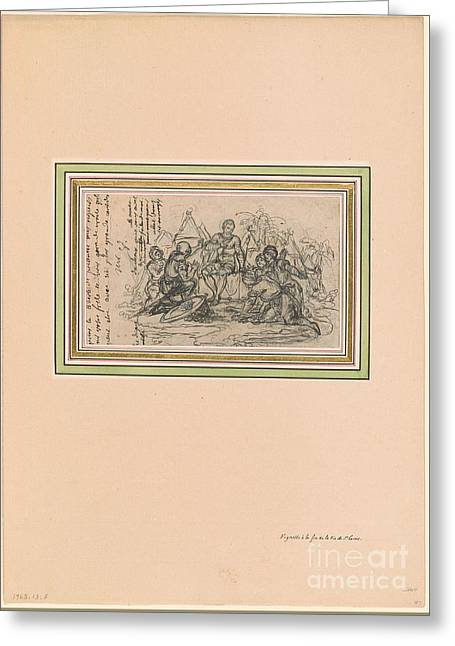 St. Louis Pardoning Five Saracens Greeting Card by MotionAge Designs
