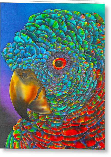 St. Lucian Parrot Greeting Card by Daniel Jean-Baptiste