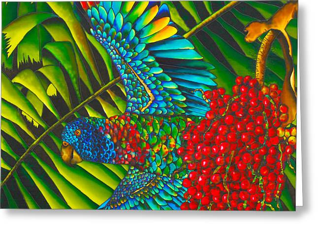 St. Lucia's Bird of Paradise Greeting Card by Daniel Jean-Baptiste