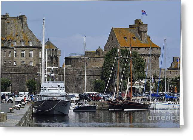 Dungeons Greeting Cards - St Malo castle and museum Greeting Card by Joel Douillet