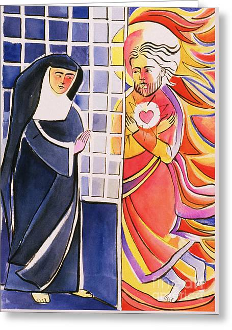 St. Margaret Mary Alacoque, Cloister - Mmmmc Greeting Card by Br Mickey McGrath OSFS