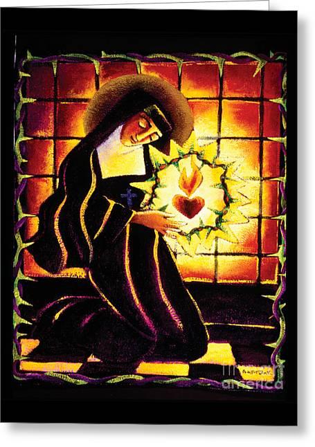 St. Margaret Mary Alacoque - Mmmma Greeting Card by Br Mickey McGrath OSFS